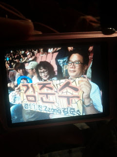 2PM Junsu's parents come to 2PM Hands Up Tour110903
